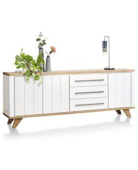 Habufa Jardin 230cm Sideboard in White