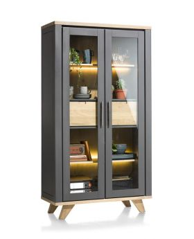 Habufa Jardin Vitrine Display Cabinet in Anthracite