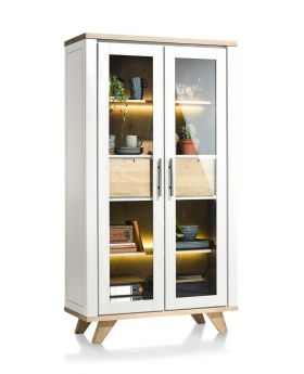 Habufa Jardin Vitrine Display Cabinet in White