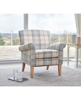GFA Highland Accent Chair in Peppermint Plaid