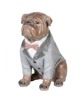 Large Dressed Bulldog Sculpture