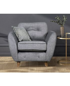 GFA Holborn Fixed Chair In Silver