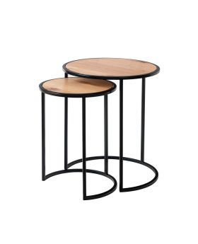 Kettle IA Dining Nest of 2 Round Tables