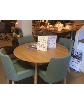 Unique Retro Round Table + 4 Chairs