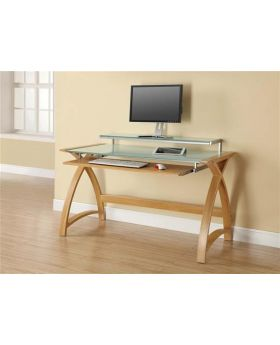 Jual PC201 1300 Oak Computer Desk