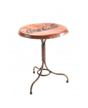 Ancient Mariner Industrial Metal Round Bistro Table