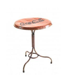Ancient Mariner Industrial Metal Round Bistro Table
