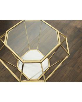Serene Iris Lamp Table