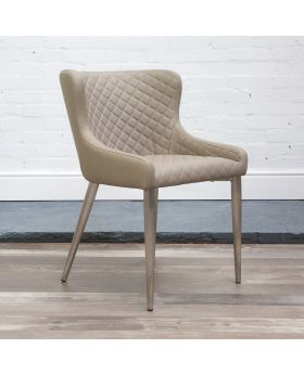 HND Kate Quilted Dining Chair - Taupe