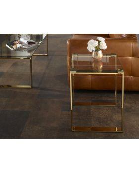 Serene Kayla Glass Lamp Table
