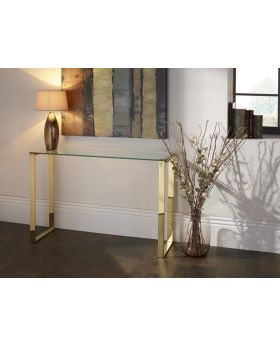 Serene Kayla Glass Console Table