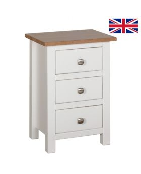 Devonshire Kenwith Compact 3 Drawer Bedside