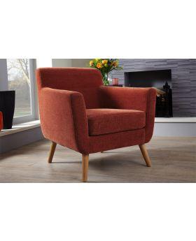Serene Kelso Retro Fabric Chair