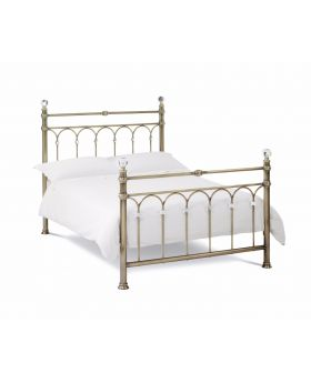 Bentley Designs Krystal Antique Brass Bedframe