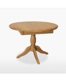 TCH Lamont Dining Round Extending Single Pedestal Table (1 Leaf)