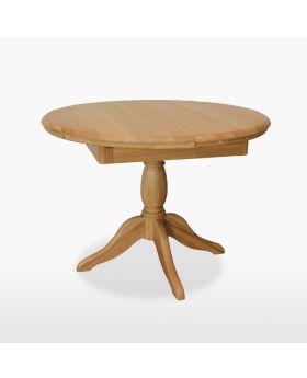 TCH Lamont Dining Round Extending Single Pedestal Table (1 Leaf)