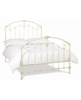 Bentley Designs Lauren Antique Ivory Metal Bedframe