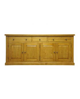 Vessel Warm Oak Large 4 door Sideboard