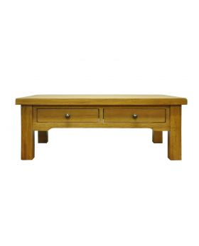 Vessel Warm Oak Large 4 drawer Coffee Table