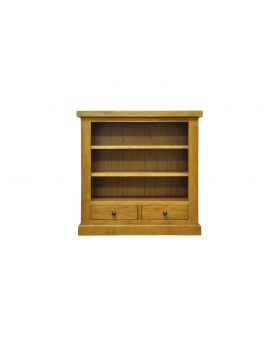 Vessel Warm Oak Small wide Bookcase