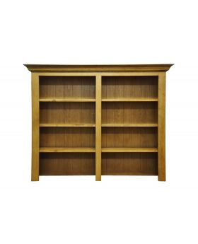 Vessel Warm Oak Wide Bookcase top