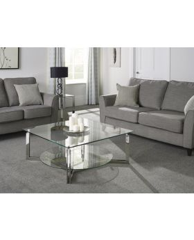 Serene Luna Glass Coffee Table