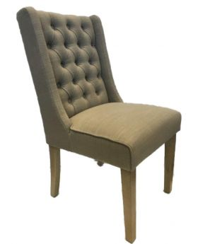 Classic Luxor Oak Dining Chair in Almond