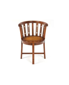 Ancient Mariner Mahogany Village Rattan Tub Chair