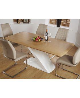 Serene Madrid Oak Dining Table