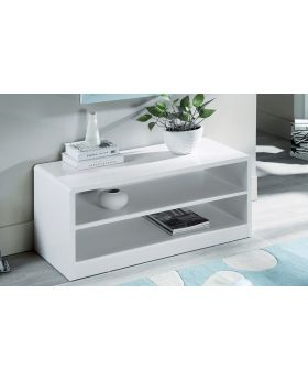 Manhattan White High Gloss Compact TV Unit