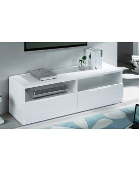 Manhattan White High Gloss 2 Drawer TV Unit