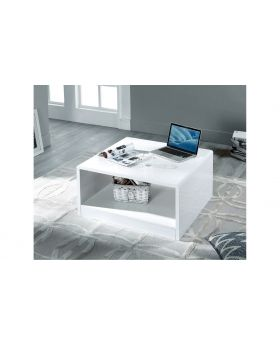 Manhattan White High Gloss Square Coffee Table