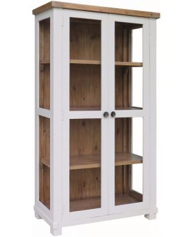Classic Furniture Melton Reclaimed Pine Glazed Display Cabinet