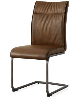Classic Furniture Industrial Dining Chair - high back-antique PU-vintage frame