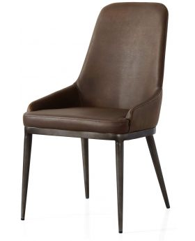 Classic Furniture Industrial Dining Chair - retro contour-vintage PU-vintage frame