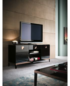 ALF Mont Noir Black High Gloss Entertainment Unit