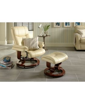 Serene Moss Leather Recliner Chair