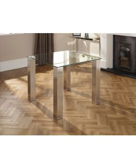 Serene Murica 90cm Square Glass Top Dining Table