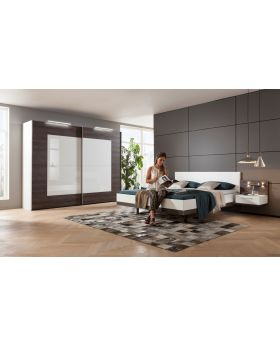 Nolte Novara Sliding Wardrobe in Dark Chocolate Oak
