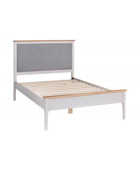 Kettle NTP Bedroom Single Bed Frame with Fabric Headboard