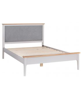 Kettle NTP Bedroom Double Bed Frame with Fabric Headboard