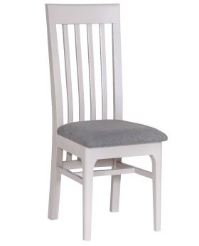 Kettle NTP Dining Slat Back Chair with Fabric Seat