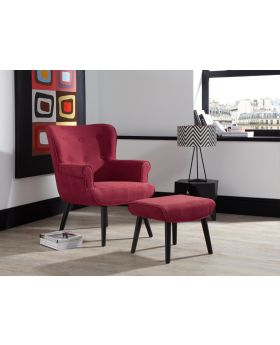 Serene Oban Retro Chair and Foot Stool