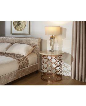 Serene Ophelia Rose Gold Lamp Table