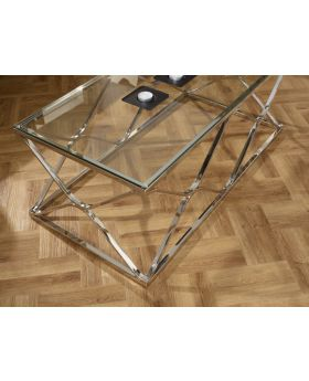 Serene Orion Glass Coffee Table