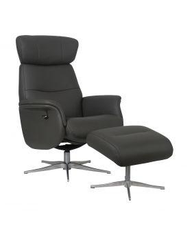 Panama Swivel Chair & Stool in Charcoal