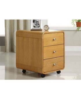 Jual PC201 3DR Oak 3 Drawer Pedestal