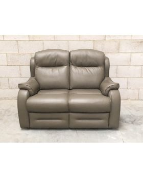 Parker Knoll Boston Leather 2 Seater Sofa in Sage Green