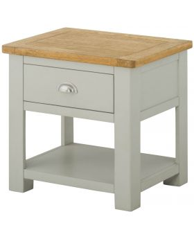 Classic Furniture Portland Lamp Table with Drawer-stone