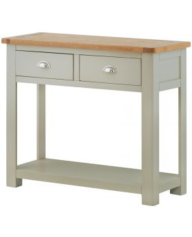 Classic Furniture Portland 2 Drawer Console Table-stone